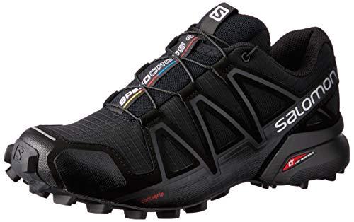 Salomon Speedcross 4 Trail Zapatillas para correr para mujer, Negro/Negro/Negro Metálico, 10.5 US
