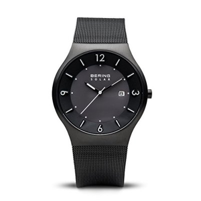 BERING Time   Men's Slim Watch 14440-222   40MM Case   Solar Collection   Stainless Steel Strap   Scratch-Resistant Sapphire Crystal   Minimalistic - Designed in Denmark