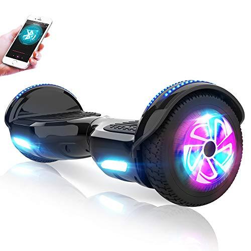 M MEGAWHEELS Gyropode 6.5 Pouces - Hoverboard Tout Tterrain Certifié UL 2272 Auto-équilibrage Balance Board avec Bluetooth et Pneu LED-Noir