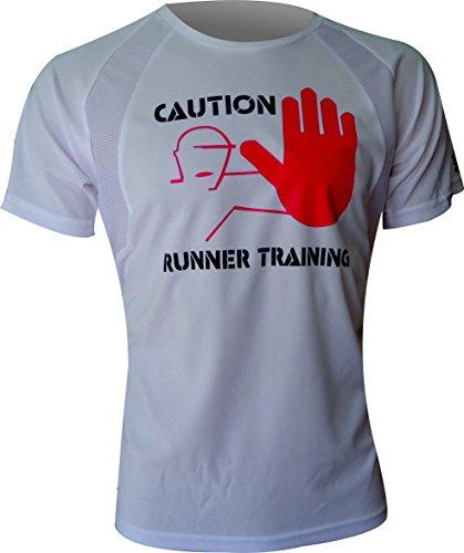 CAMISETA EKEKO CAUTION RUNNER ,HOMBRE, running y deportes en...