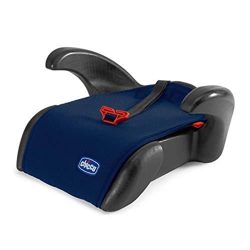 Chicco Quasar Plus Rialzo Auto 15-36 kg Gruppo 2/3, Rialzo Auto per Bambini da 3 a 12 Anni, Facile da Installare, con Comodi Poggiabraccia e Guida-Cintura - Blu