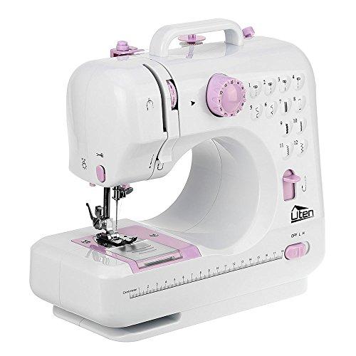 Uten Nähmaschine Mini Elektrische Klein 12 Nähprogramme Haushaltsgeräte für Anfänger Kinder DIY Begeisterte