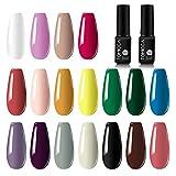 TOMICCA 20 Lot de Vernis Gel Semi-Permanent 18 couleurs 6ml Vernis à Ongles con...