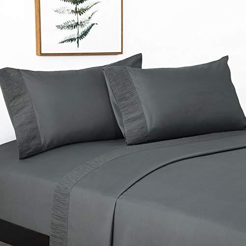 Bedsure Completo Letto Una Piazza e Mezza - Set Lenzuola 1 Piazza e Mezza 140x200 con Lenzuola Sopra 220x280cm e 2...
