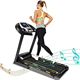 Running Machine Treadmill with Incline Manual 2.25HP Folding Treadmills for Home Office Apartment Gym Small Spaces Cardio Tredmill with App & Bluetooth (2.25HP Treadmill with Incline)