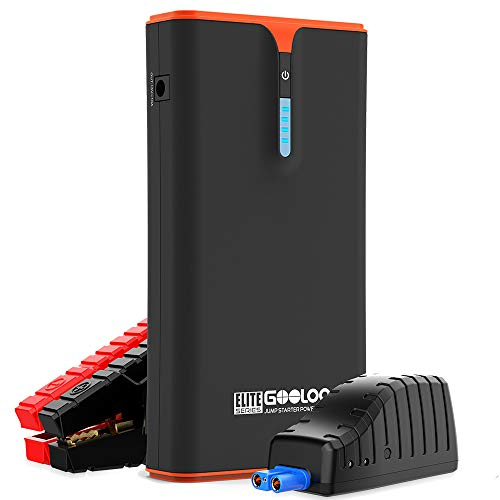PD 18W fit iPhone, GOOLOO 1500A Peak SuperSafe Car Jump Starter (Up to 8.0L Gas or 6.0L Diesel Engine) with USB Quick Charge, 12V Portable Power Pack Auto Battery Booster Type-C Phone Charger