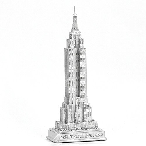Empire State Building Statue from New York City Silver 9' NYC Statues Collection
