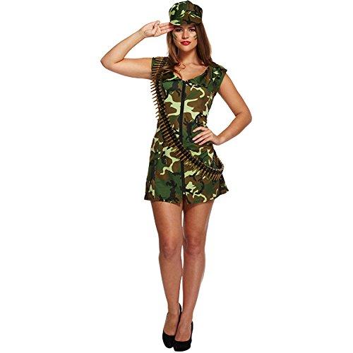 Disfraz Sexy De Mujer Militar (Camuflaje)