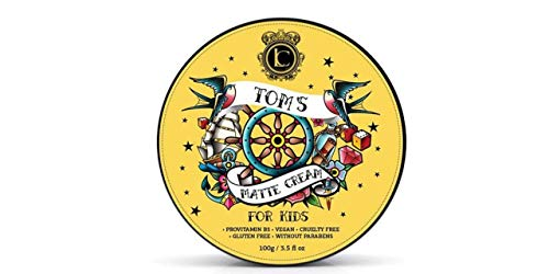 Lavish Cera Opaca in Crema Effetto Asciutto Per Capelli Per Bambini Tom's Matte Cream 100gr Provitamina B5, Vegana, Senza Glutine, senza Parabeni.