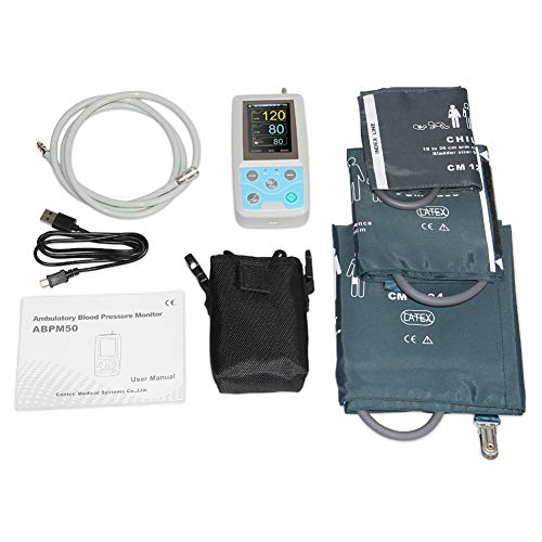 Wang 24 Hours Ambulatory Blood Pressure Monitor Holter ABPM Holter BP Monitor with Software Contec