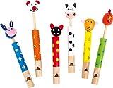 Small Foot 7744 Animaux flûte , avec différents motifs animaliers, set de 6, à partir de 3 ans