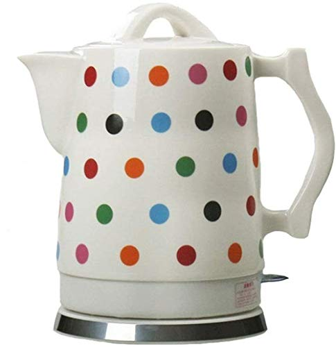 2 Liter Keramik Porzellan Wasserkocher, 1500 Watt Kabellose Abschaltautomatik,Porzellan-Wasserkocher Elektrokocher Teekessel