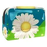 Bolsa de maquillaje portátil con cremallera bolsa de aseo de viaje para mujeres práctico almacenamiento bolsa cosmética flor núcleo