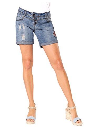 Rock Angel Damen Denim Bermuda mit Stickereien   Jeans-Shorts   Kurze...