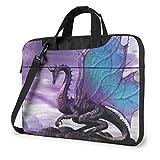 Purple Dragon Purple Moon Unisex Laptop Bag Messenger Bolsa de Hombro para computadora Maletín Funda de Transporte