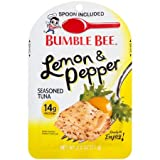 Bumble Bee Lemon Pepper Seasoned Tuna with Spoon ~ pack of 4