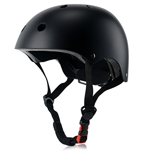 OUWOER Kids Bike Helmet, CPSC Certified, Adjustable and Multi-Sport, from Toddler to Youth (Black)