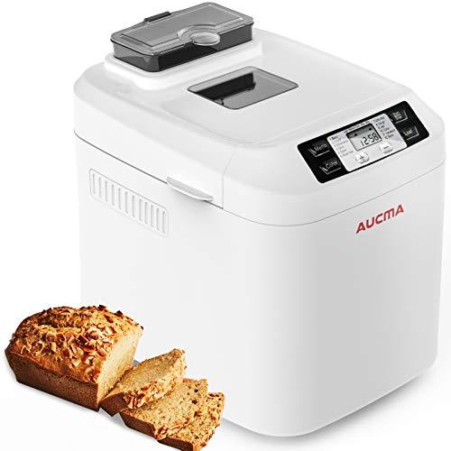 Macchina del Pane,AUCMA Macchina per il Pane con scatola per ingredienti automatica,12 Programmi,3...