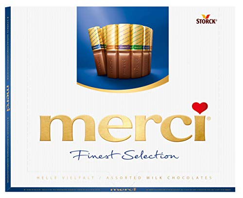 Merci Finest Assortment of European Milk Chocolates 8.8 Ounce Box,20 pieces