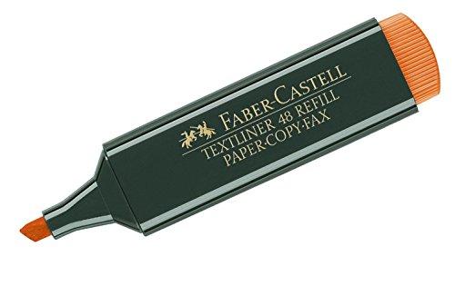 Faber-Castell 154815 - Textmarker Textliner 48, nachfüllbar, orange