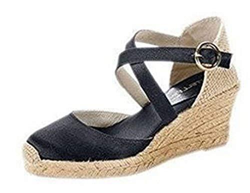 CASTELLER Sandalette, Scarpe col Tacco Donna, Nero (Nero), 40