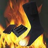 Chaussettes chauffantes en coton de 4,5 V | Chaussettes chauffantes unisexes à...