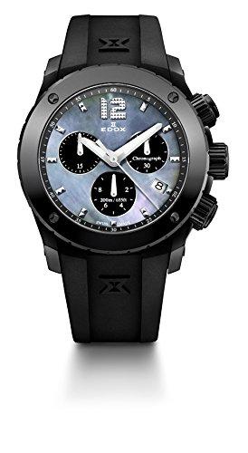 EDOX Unisex-Armbanduhr Chronograph Quarz Edelstahl 10411 37N NANN