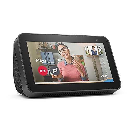 Nouvel Echo Show 5 (2e génération, modèle 2021)   Écran connecté avec Alexa et caméra 2 Mpx   Anthracite