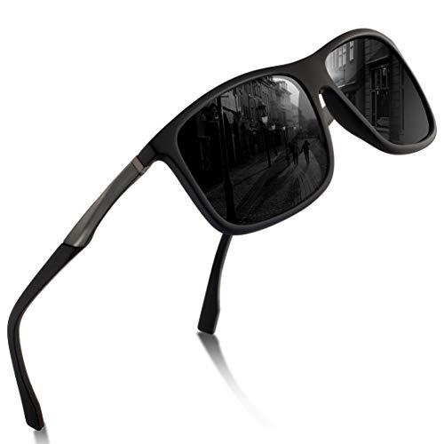 Sport Sonnenbrille Herren - Polarisierte Sonnenbrille für Herren und Damen UV Schutz Leichter Rahmen zum Radfahren Skifahren Autofahren Fischen Laufen Wandern Sport Verspiegelte Sonnenbrille Damen