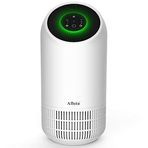 Afloia HEPA Purificateur d'Air Poratble Avec HEPA Filtre Ultra Silencieux, 3 Vitesses de Vent et 2/4/8H Minuterie Pour Maison Bureau Chambre