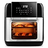 Innsky Air Fryer, 10.6-Quarts Toaster Oven, Rotisserie Oven, 1500W Electric Air Fryer Oven with LED Digital Touchscreen, 10-in-1 Countertop Oven with Dehydrator & Rotisserie, 6 Accessories & 100+ Recipes