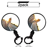 Bike mirror, 2pcs bike rear view mirrors with Wide Angle Convex Mirror, Adjustable Rotatable...