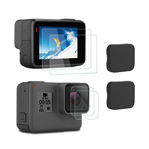 iTrunk Pellicola Di Protezione a Cristallo Temperato in Vetro Ultra-trasparente e Copri Obiettivo per GoPro Hero 7 Black