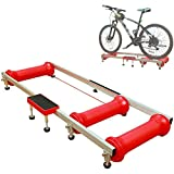 HJJH Indoor Stationary Bicycle Bike Roller Rollers Trainer Exercise, Professional Indoor Cycling, Bike Roller Riding Training Foldable Parabolic Sports Rollers Trainer Exercise Table Tool