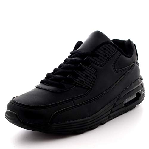 Mens Fitness Air Bubble Sport Walking Running Performance Shoes Lightweight Trainers - Black - UK10/EU44 - BS0086