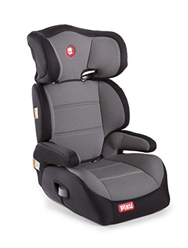 Piku 6357 - Seggiolino Auto, Gruppo 2/3, 15-36 kg, 3-12 anni, Grigio e Nero