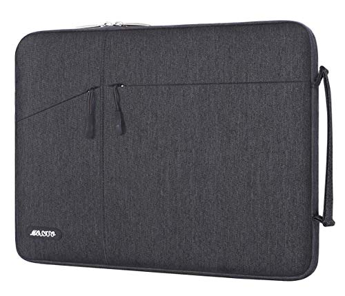 MOSISO Laptop Sleeve Compatible with 13-13.3 inch MacBook Pro, MacBook Air, Notebook, 13.5 Surface Laptop 3/2/1, Surface Book 2/1,Water Repellent Polyester Carrying Handbag with Side Handle,Space Gray