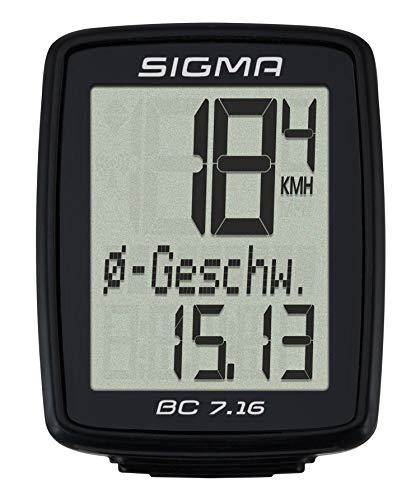 Sigma Sport Sigma BC 7.16 Fahrradcomputer, Schwarz, One size