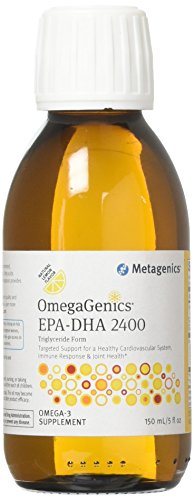 Metagenics OmegaGenics EPA-DHA 2400  Liquid Omega-3 Oil  Daily Supplement to Support Cardiovascular, Musculoskeletal, Immune System Health | 150 mL