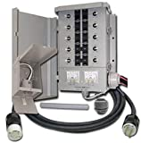 Connecticut Electric EGS107501G2KIT EmerGen EGS107501G2 Manual Transfer Switch Kit 30 Amp, 10-Circuit, 7500 Watts, For Portable Generator