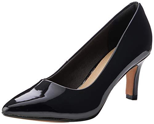 Clarks Illeana Tulip, Zapatos de Vestir par Uniforme Mujer, Pat Negro, 39 EU