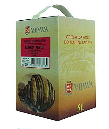 Vipava 1894 sacchetto vino rosso in scatola 5 litri vino rosso scatola 5 l Cuvee rosso - Barbera/Merlot vino rosso in scatola 5 litri (5 l)