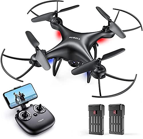 Tomzon D28 1080P HD Drone con Telecamera per Principianti, Drone WiFi FPV 2.4Ghz, Un Clic Decollo/ Atterraggio, Vibrazione 3D, Sensore di Gravit, Modalit Senza Testa, Mini Drone per Bambini e Adulti
