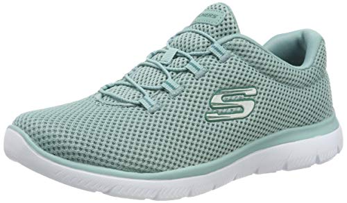 Skechers Women's Summits Trainers, Blue (Sage Sage), 3 UK