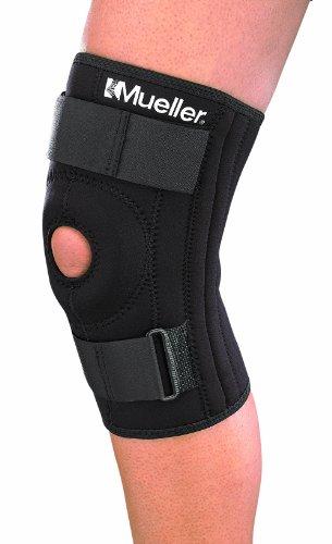 Mueller Sports Medicine Patella Stabilizer Knee Brace, Large, Black, 1-Count Package