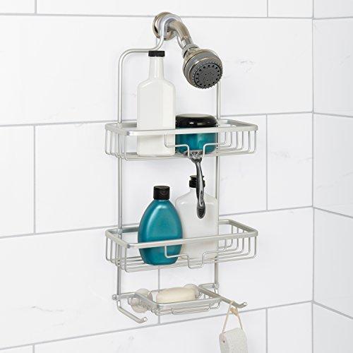 Zenna Home NeverRust Rustproof Aluminum Shower Caddy, Satin Chrome
