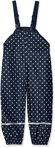 Playshoes Baby-Jungen Regenlatzhose mit Punkten Regenhose, Blau (Marine 11), (Herstellergröße: 86)