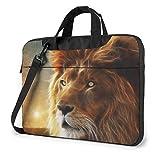 DJNGN Bolso Bandolera para portátil de 15,6 Pulgadas, maletín Lion Big Cat
