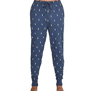 Polo Ralph Lauren Mens Logo Print Relaxed Jogger Pants Blue L