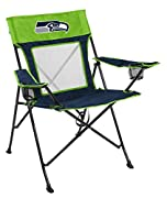 THE ULTIMATE SEATTLE SEAHAWKS TAILGATING CHAIR for any diehard Seahawks football fan ULTRA BREATHABLE MESH BACK allows you to sit comfortably for hours at a time, while providing a sleek look for any tailgate or event 2 BUILT-IN CUP HOLDERS (XL and r...
